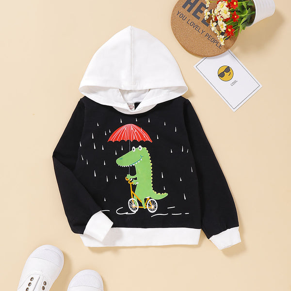 Stylish Toddler Boys Dinosaur Hoodie
