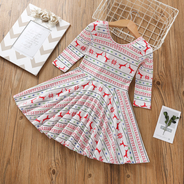 Christmas Toddler Girl Deer Dress