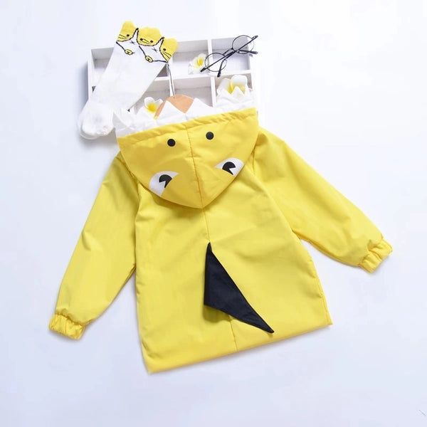 Cute Baby little Kids Cartoon Dinosaur Hooded Jacket