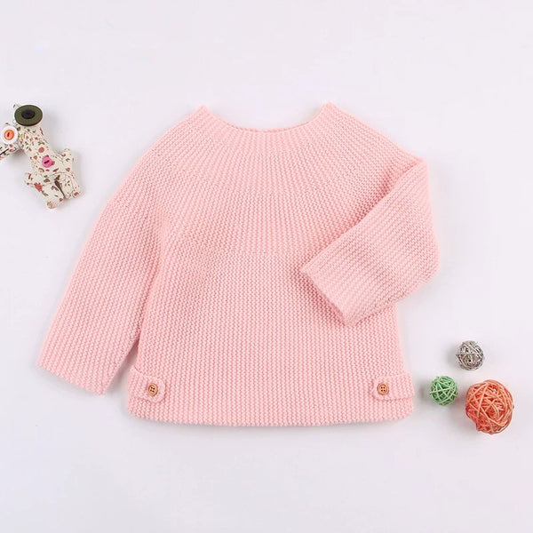 Stylish Solid Color Knitted Sweater
