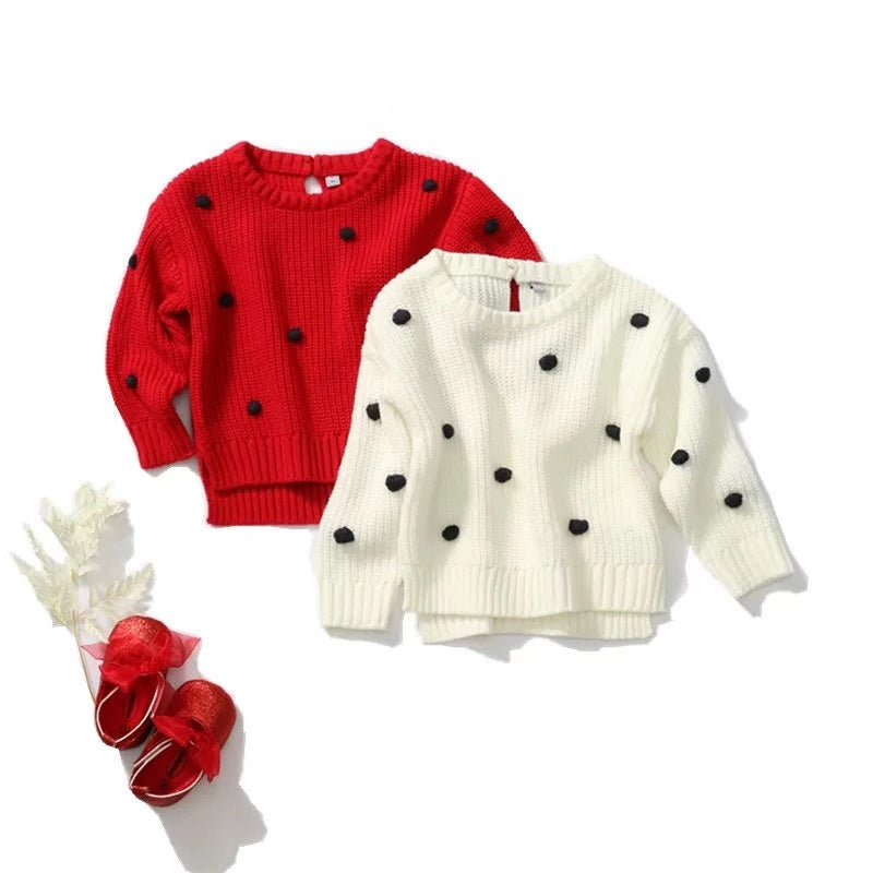 Long Sleeve Acrylic Knitted Baby Sweater