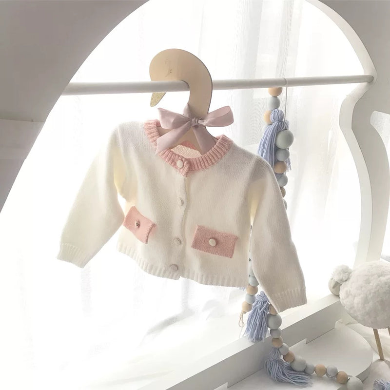 Spanish Style Baby Girl Knitted Cardigan for Spring