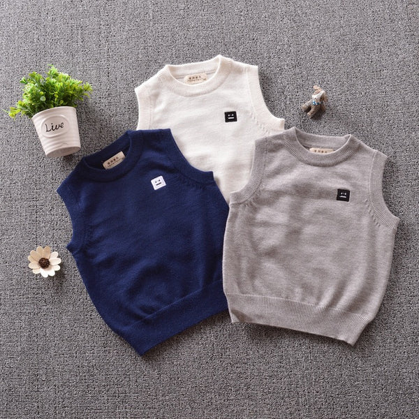 Sleeveless Jersey Pullover Sweater Vest Babies Toddlers Boys Top