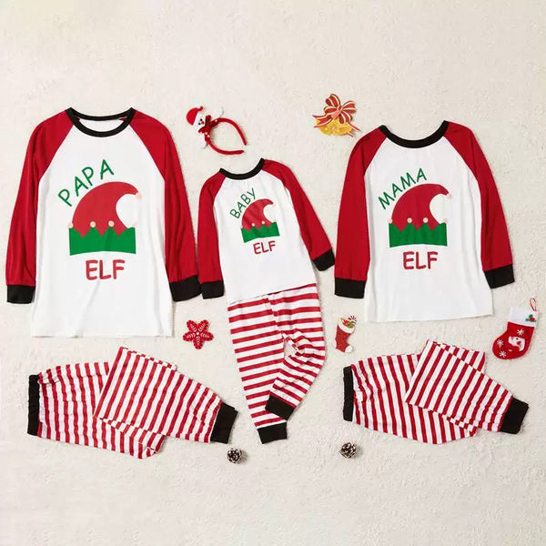 2-Piece Family Matching Christmas Hat Print Loungewear
