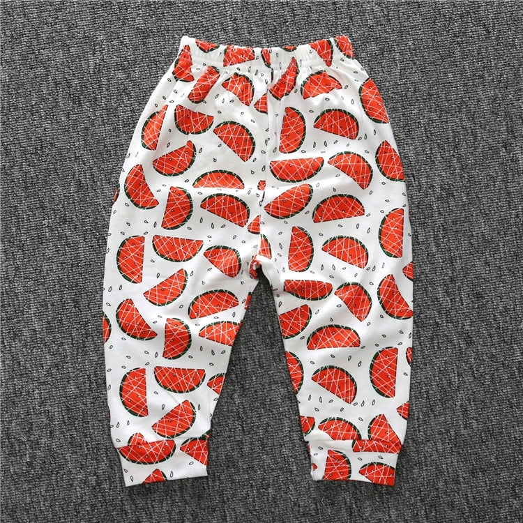 Fruit Print Pants Casual Trousers for Infant Unisex