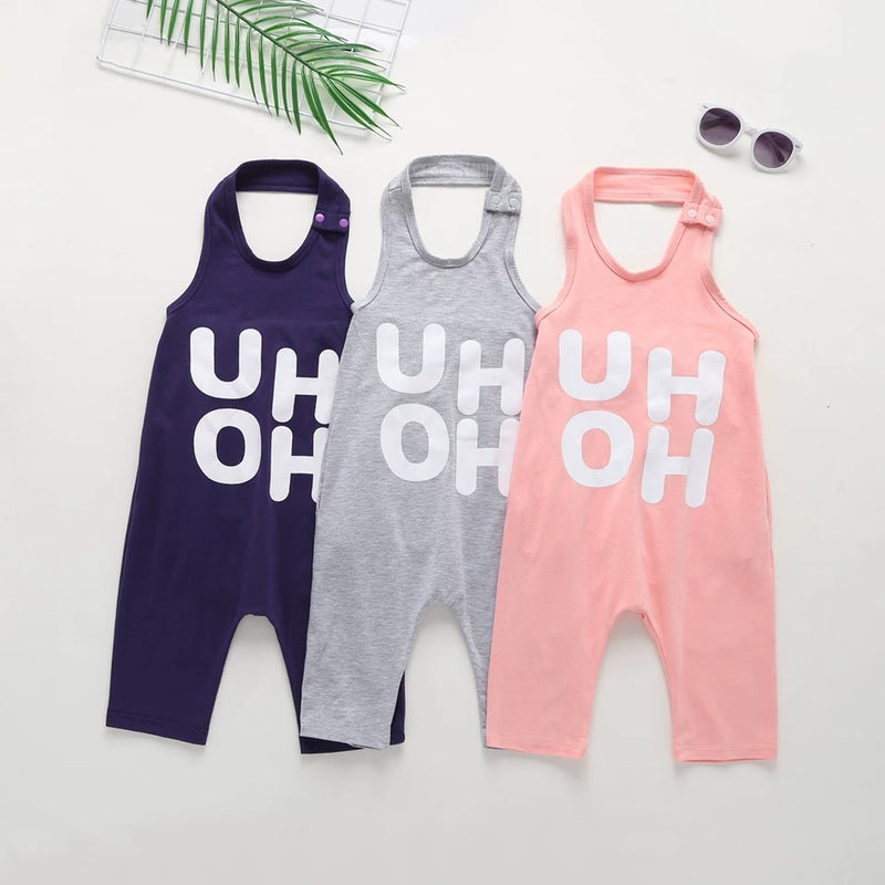 High Summer Letters Print Baby Little Kids Unisex Jumpsuit