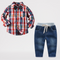 Elegent Toddler Boys Suits Matching Bow-Tie Shirt and Trousers