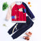 Cute Dog Pattern Color Block Little Boys Knitted Sweater