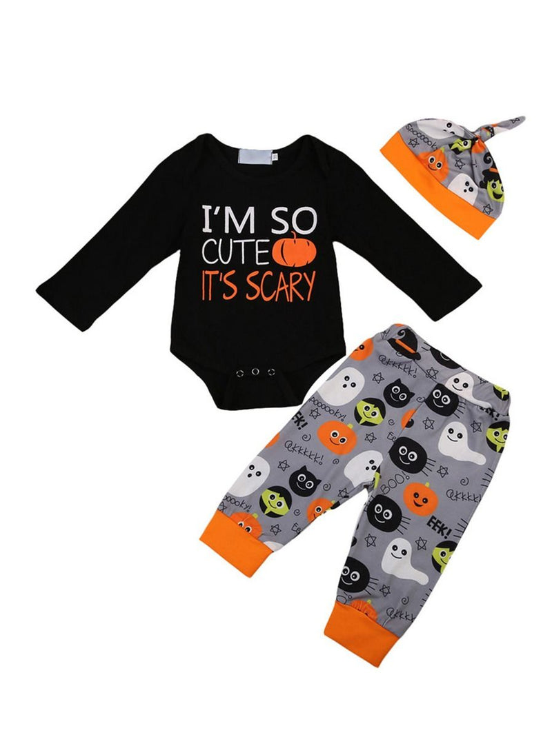 3-pieces Holloween Clothes Set