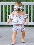 3-Piece Flower Baby Outfits