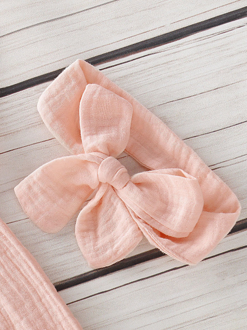Baby Girls Pink Outfit-Headband