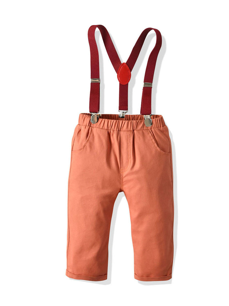 Trendy 4-Piece Boys Christmas Party Outfits 2-Color