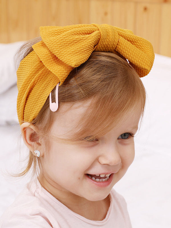 Adorable Baby Little Kids Solid Color Bow Hair Band