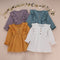 4 Colors Fall Little Girl Flutter Muslin Dress