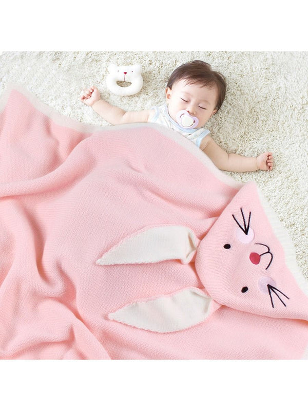 Adorable Bunny Baby Knit Blanket