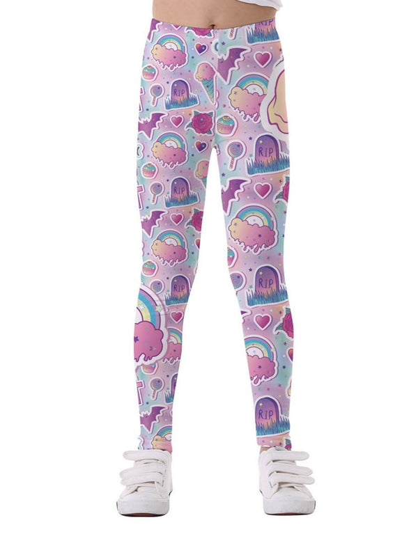 Cotton Blend Leggings-Front