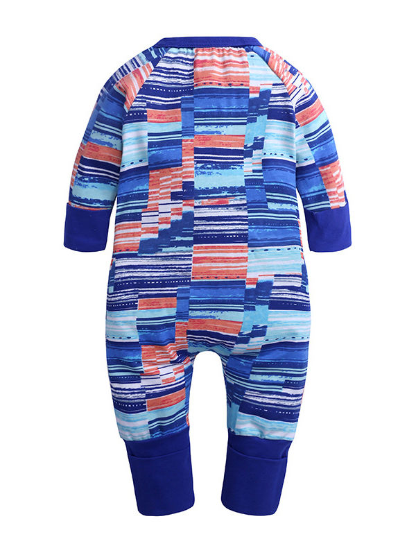 Autumn Baby Multi-Color Zipper Onesie