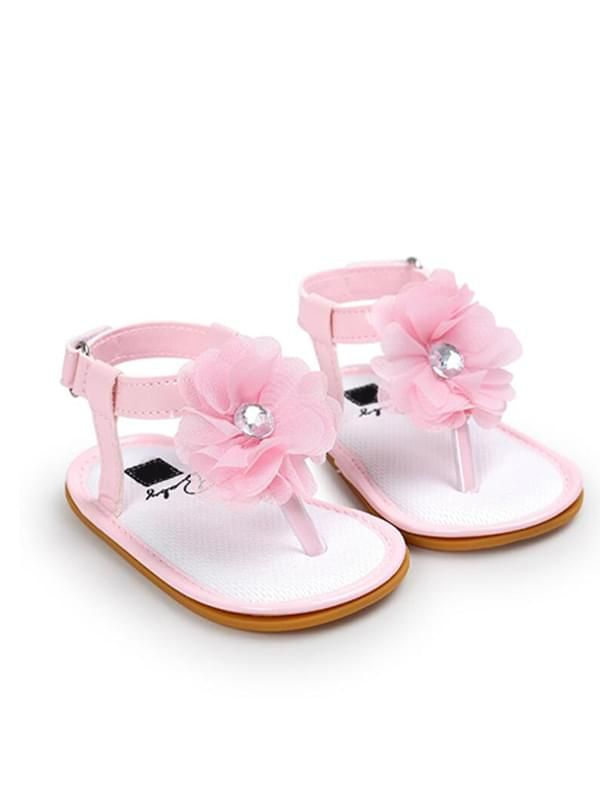 Baby Girls Crib Shoes Sandals-Pink