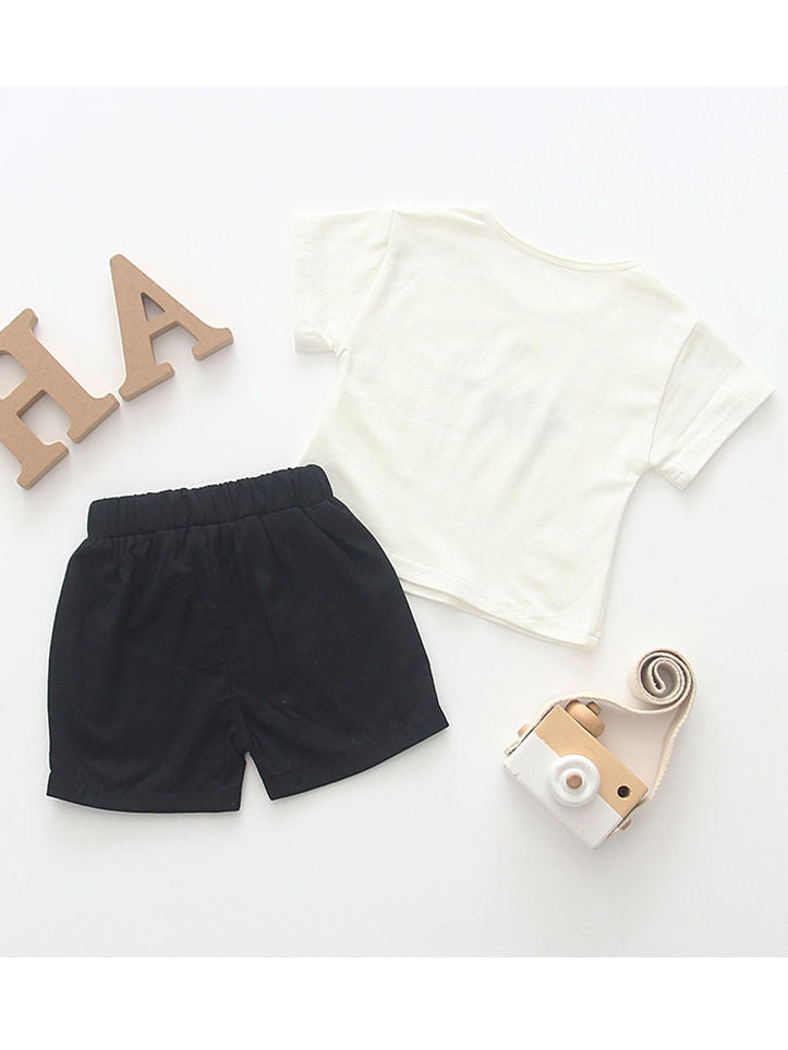 Baby Boy Clothes 2-Piece Outfits Set Bee Yourself T-shirt+Short Pants