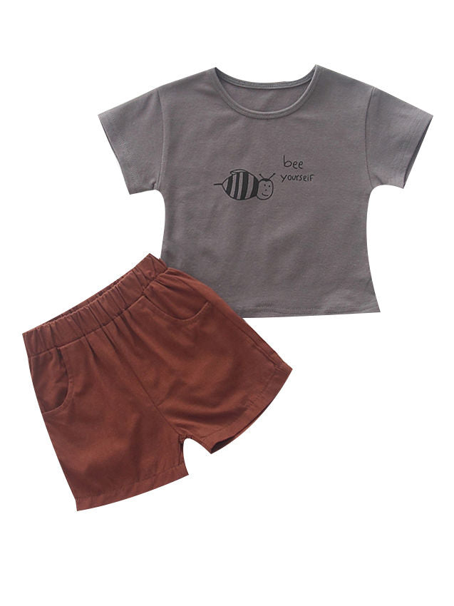 Baby Boy Clothes 2-Piece Outfits Set gray