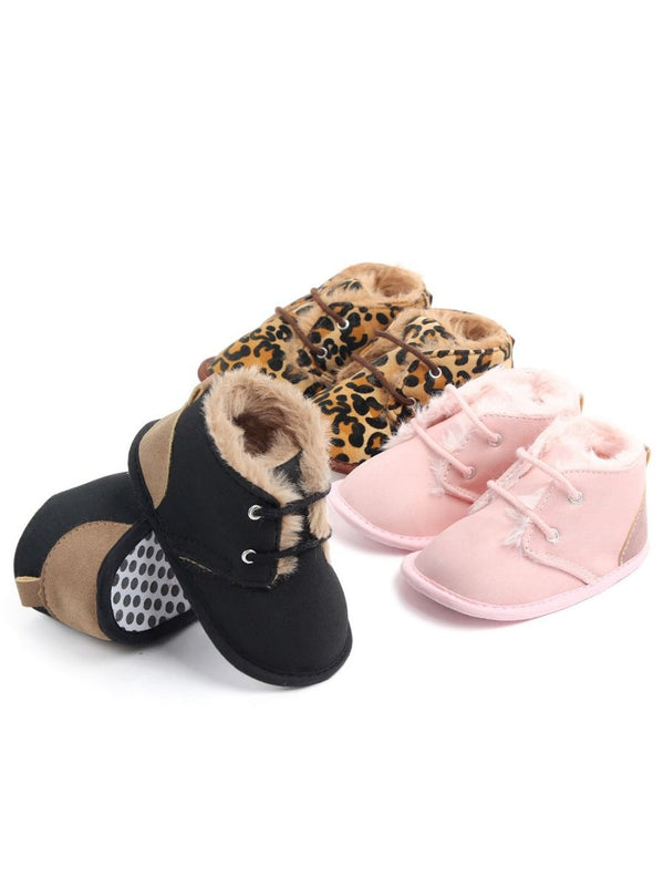 Fashion Baby Winter Warm Faux Fur Pre-walker Shoes 4 Colors