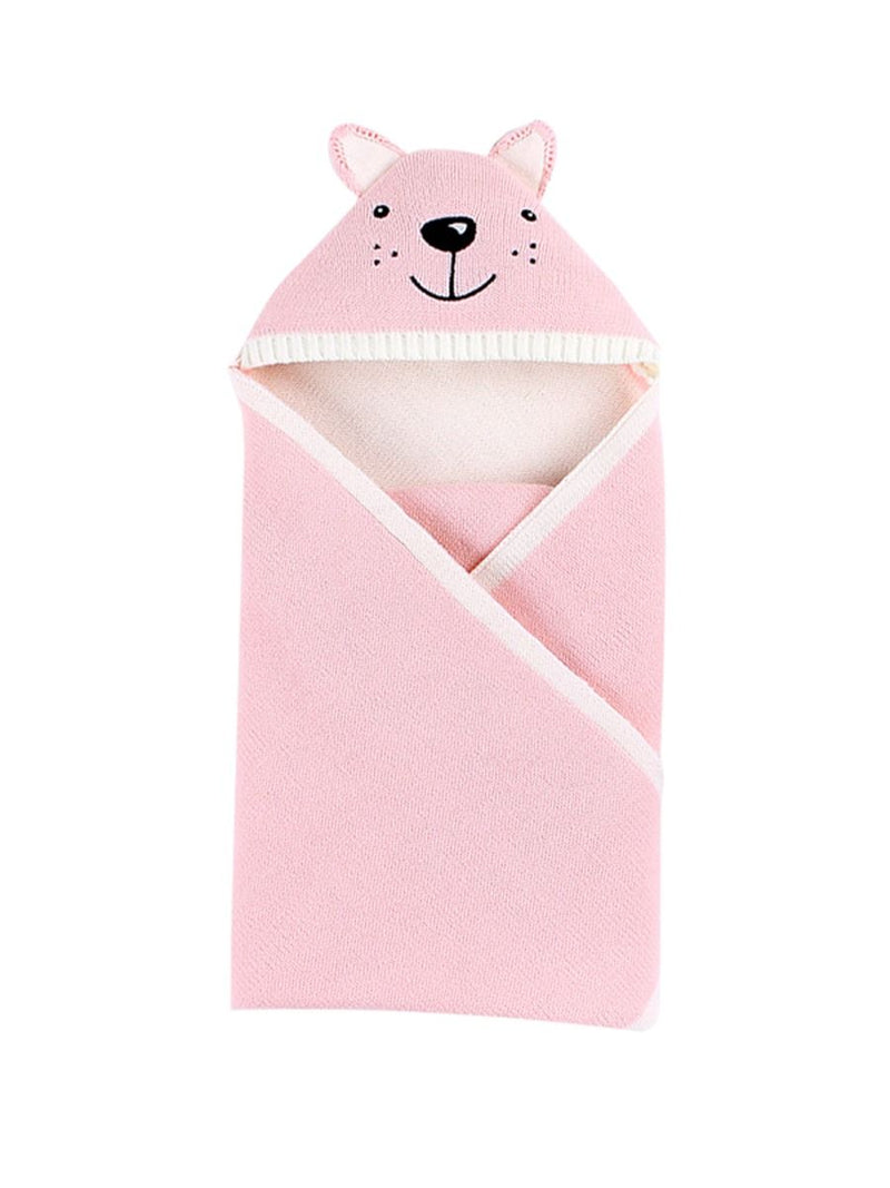 Cute Infant Baby Fox Style Solid Color Knit Blanket 3 Colors