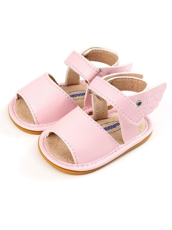 Solid Color Sandal-Pink