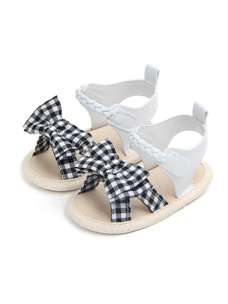 Plaid Bow Sandals-pattern 2