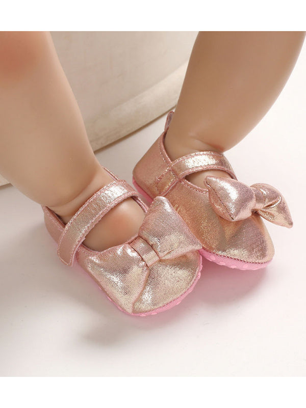 Big Bow T-bar Baby Princess Crib Shoes