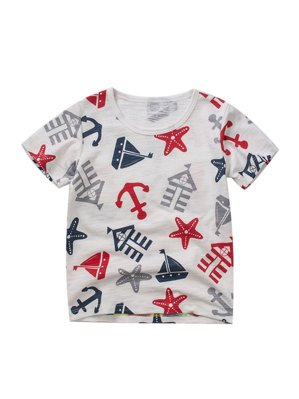 Sailing Boat Print Boys T-shirt
