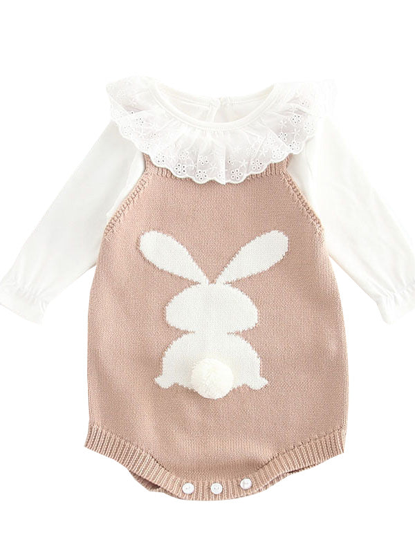 Bunny Knitted Onesie Romper