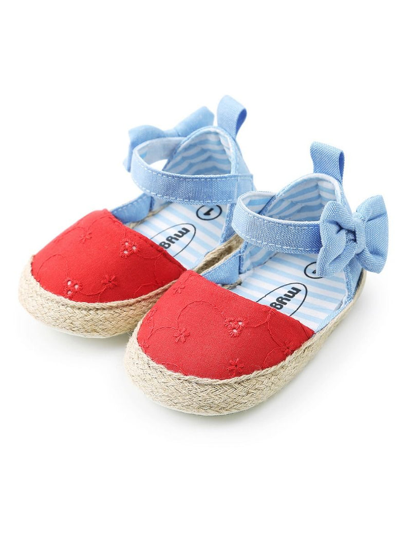 Baby Girl Crib Shoes-red