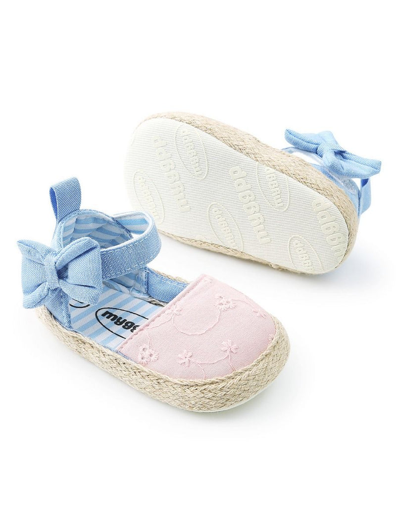 Cute Baby Girl Bow Ankle Straps First Start Crib Shoes