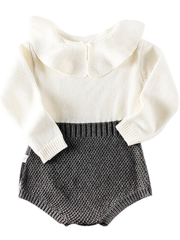 Gray Romper for Babies