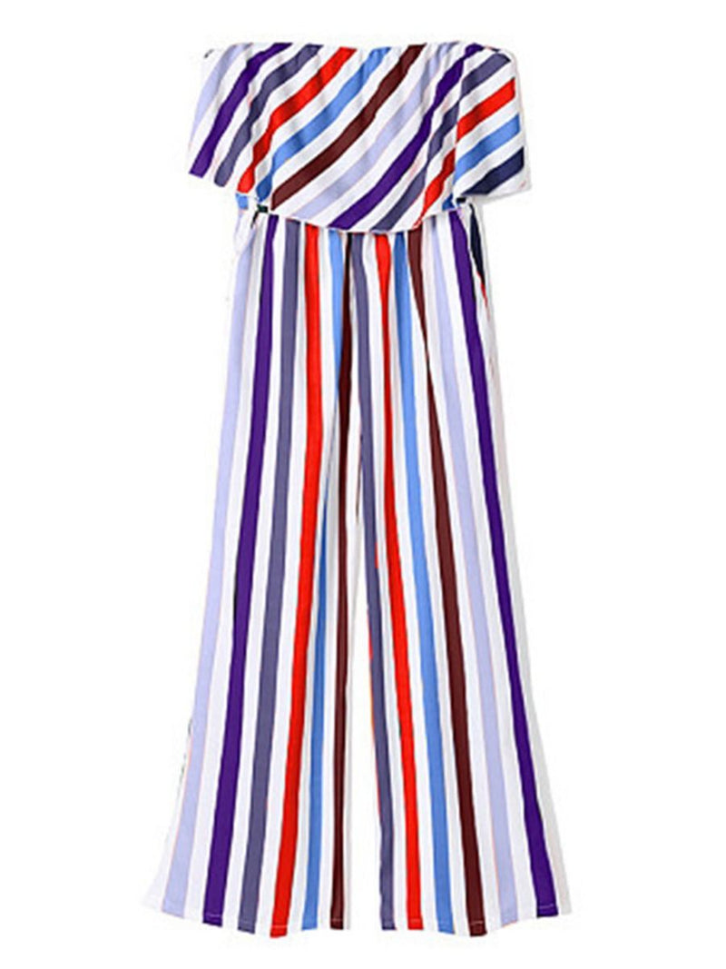 Colorful Stripe Dress Outfit