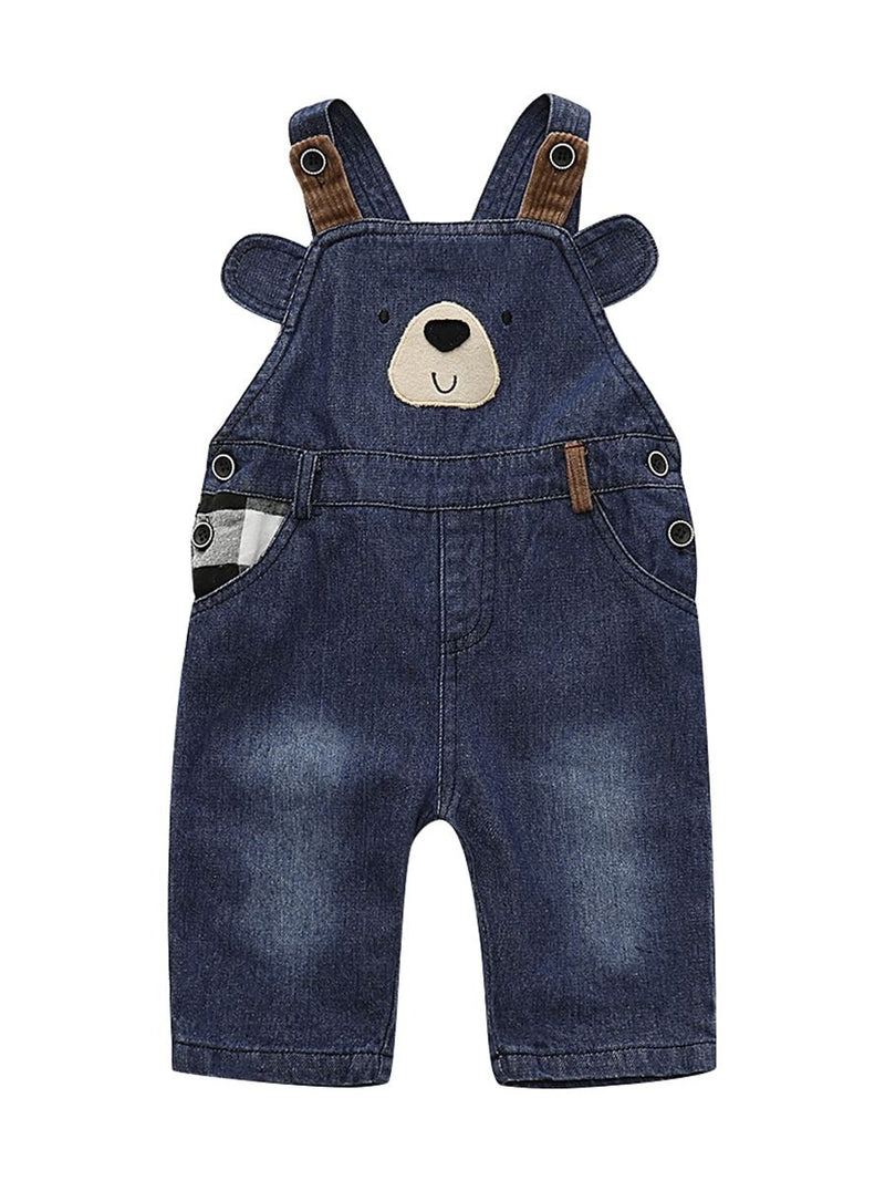 Fall Adorable Bear Bib Overalls For Baby Toddler Kids