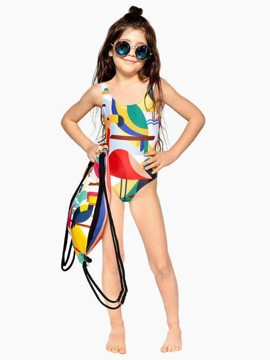 Family Matching Flamingo One Piece Bathing Suit