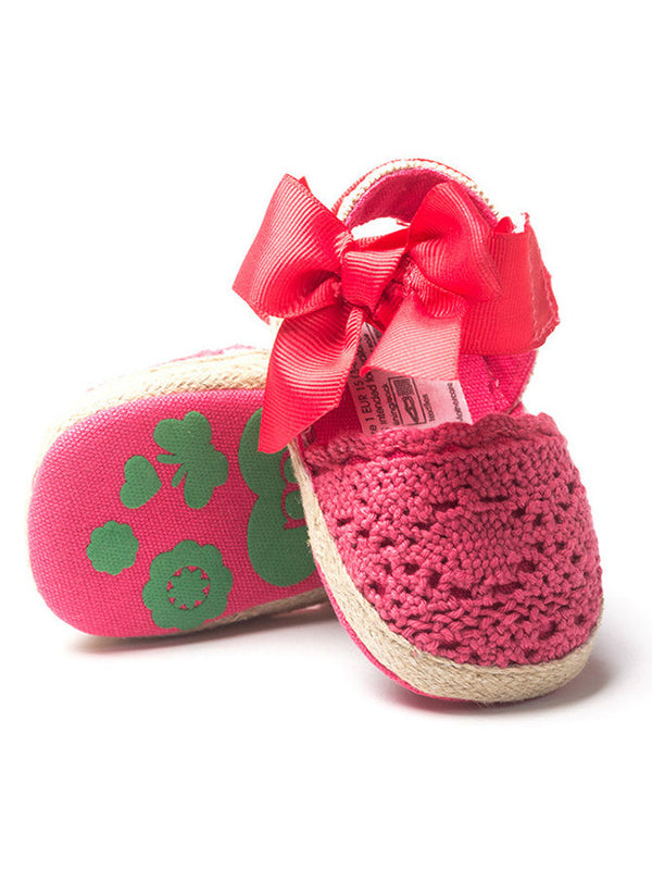 Fashion Baby Girl Bow Crochet Pre Walking Sandal