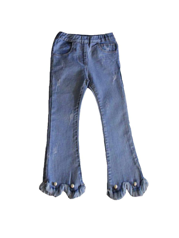 Ripped Design Bell-Bottoms