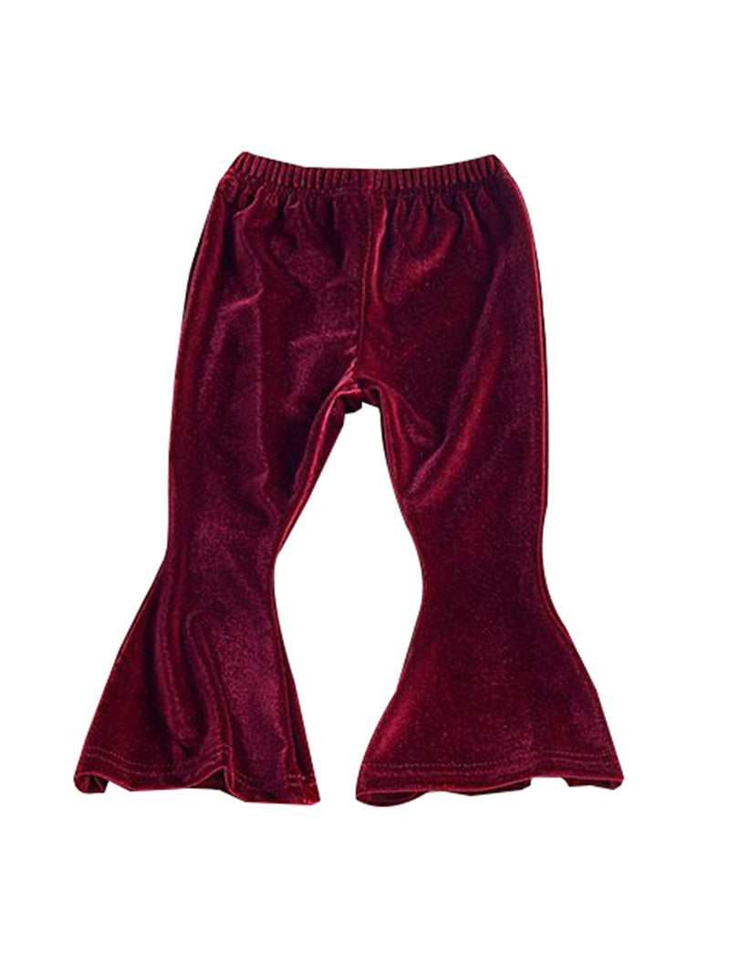 Flared Trousers-Crimson