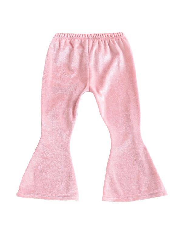 Flared Trousers-Pink