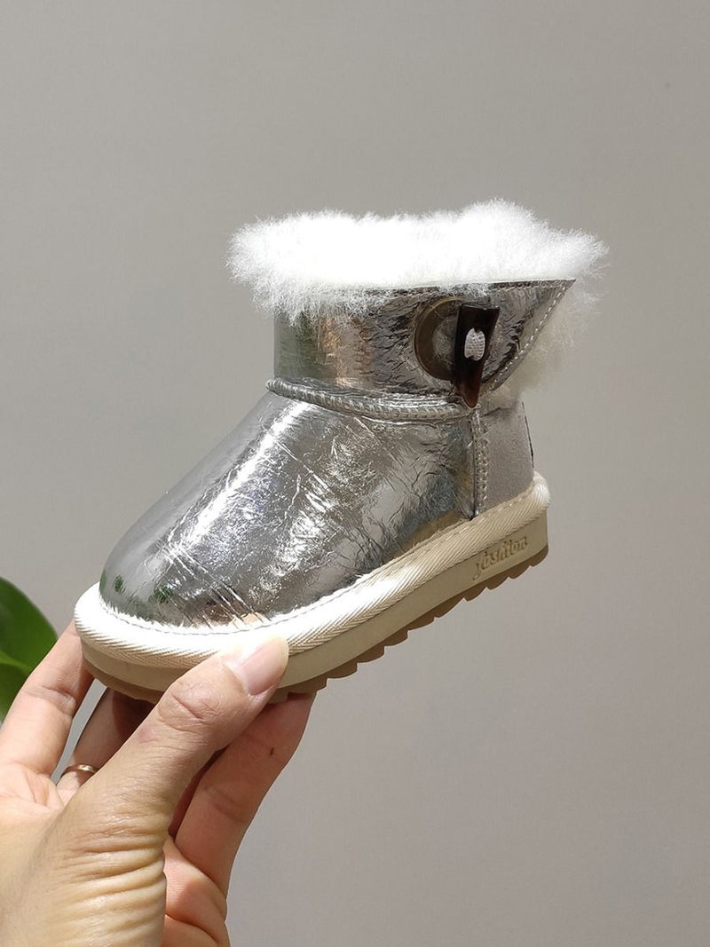 Winter Warm Boots-Silver