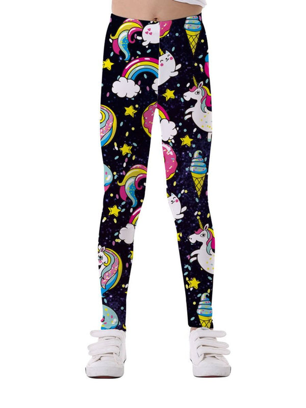 Cartoon Printed Leggings-Front