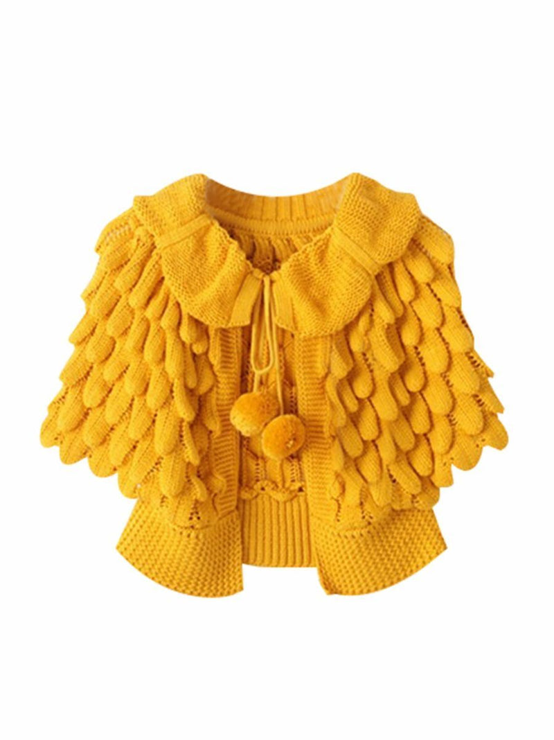 Crochet Coats-yellow