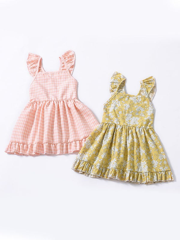 Fashion Toddler Infant Girl Summer Ruffle Sleeve Casual Dress