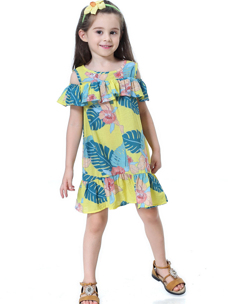 Flounced Flower Dress