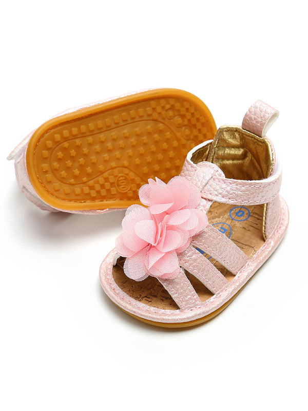 Baby Girls Pre Walking Sandal-Pink