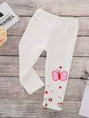 Spring Toddler Girls Footless Flower Butterfly Print Trousers