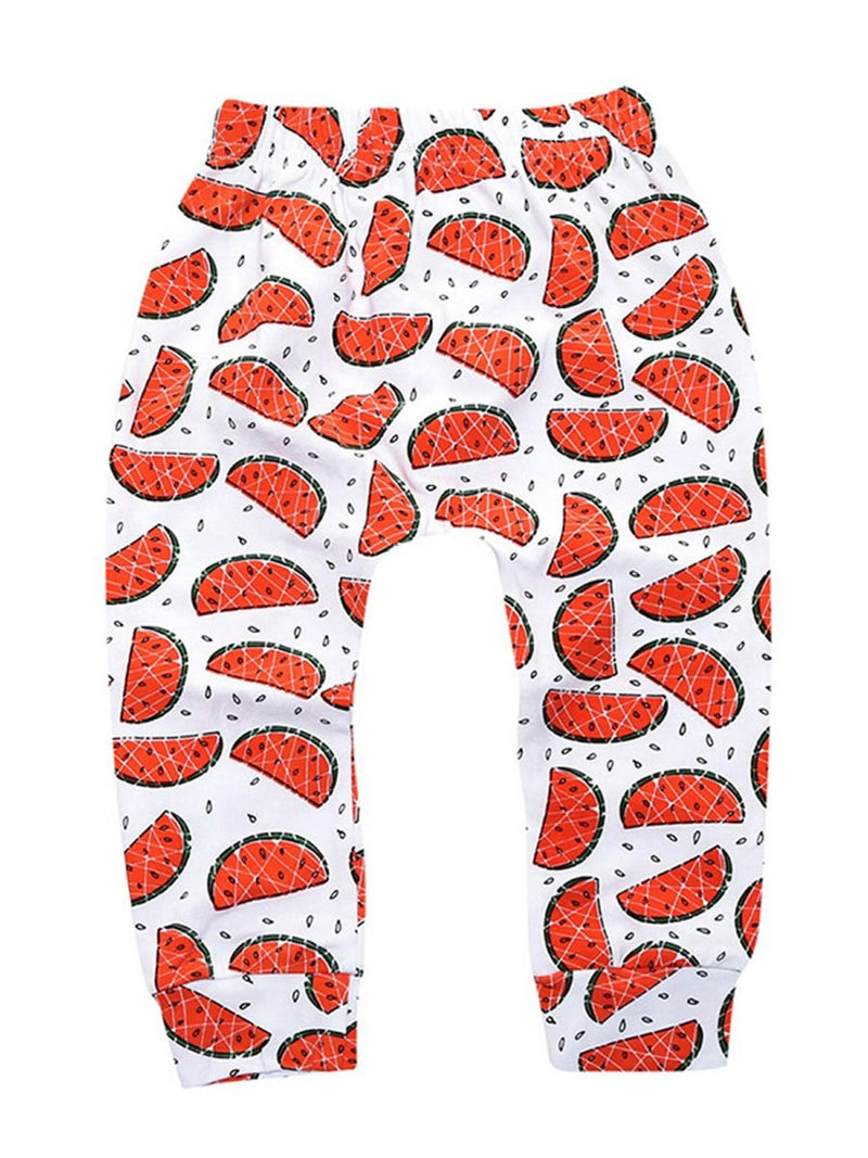 Fruit Print Casual Trousers