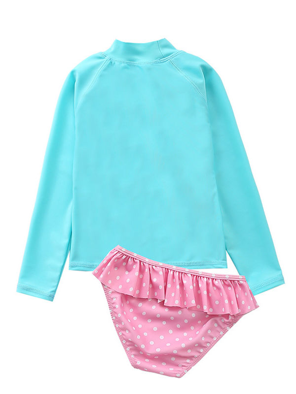 Long-sleeved Top+Frilled Shorts